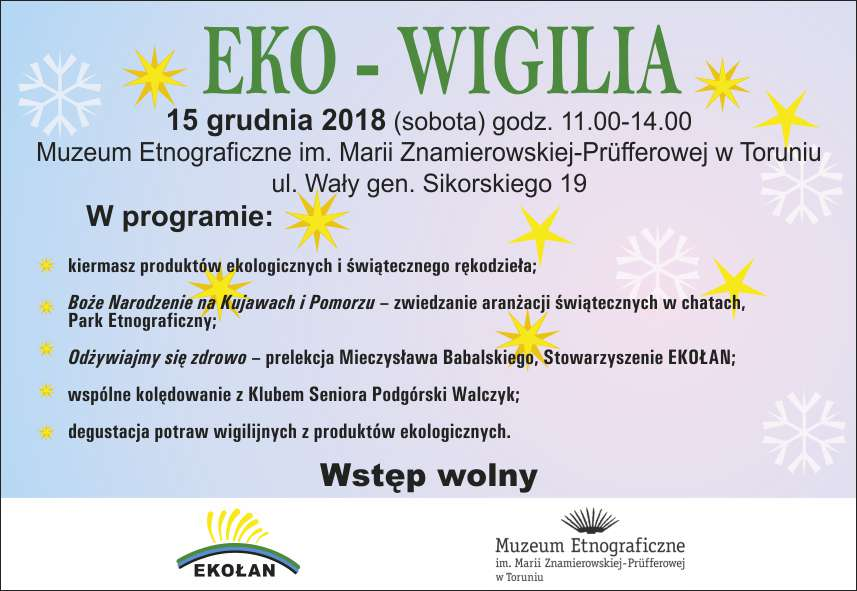 wigilia z ekolandem 2018 kartka